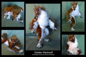 Golden Werewolf by WormsandBones