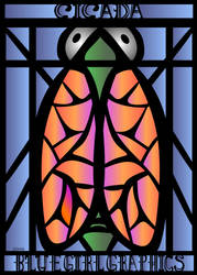 Stained Glass Cicada by lehsa