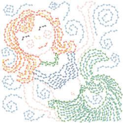 Digitally Embroidered Mermaid by lehsa
