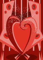 Abstract Valentine by lehsa