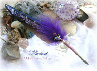 BLUEBIRD Feather Quill Pen by ChaeyAhne