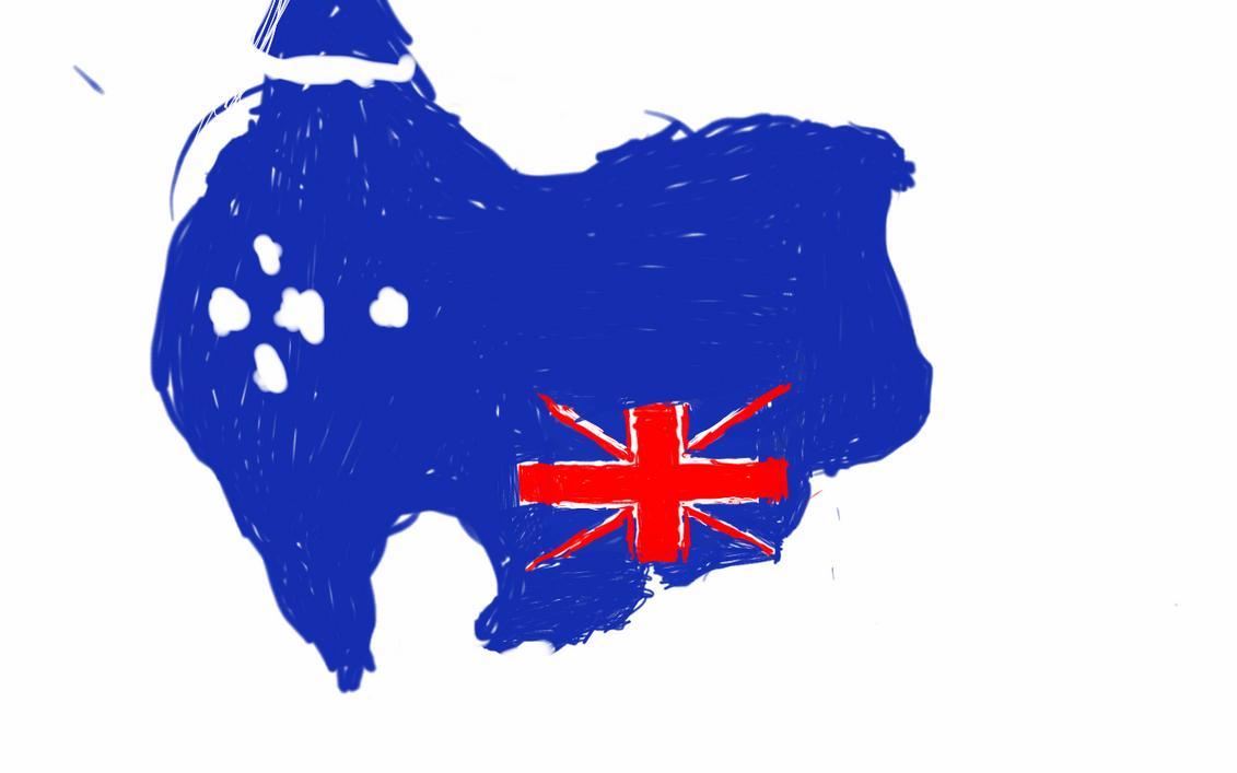 Upside Down Australia Flag Map By Unpstcommandermark On Deviantart