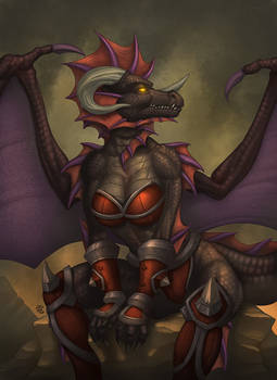 Term 16 - Anthro Onyxia Teaser by StriderDen