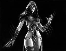 Sadira - Killer Instinct   Charcoal by Naitho