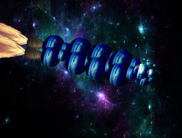 Naves espaciales modulares oso'saqyo-dussianas by Jakeukalane