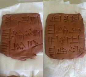 Ur-Nammu cone in clay tablets by Jakeukalane