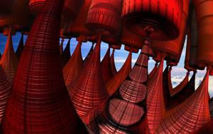 The Floating Towers of Djaila by Jakeukalane