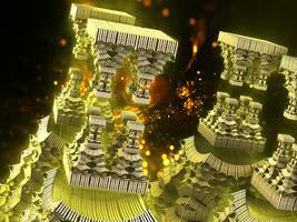 Dubla, the Fractal Fire Gate Towers by Jakeukalane