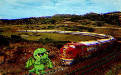 Lately trains arrive late by Jakeukalane