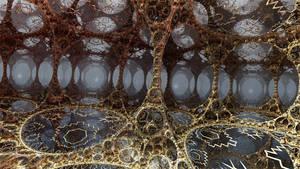 A fractal cave for dreams by Jakeukalane