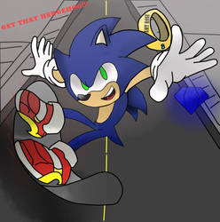 Sonic in the City (Sonic Adventure 2) by sonikknight