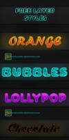 Cool layer styles by XvideokidX