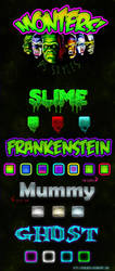 Super Monters Text Styles Collection by XvideokidX