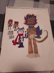 Digimon Accel Strike Key Characters (Monster side) by Xros-Hero