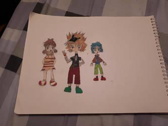Digimon Accel Strike Recurring Characters (Human) by Xros-Hero