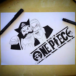 OnePiece - Gol D. Roger and Silvers Rayleigh by DownStarGamer
