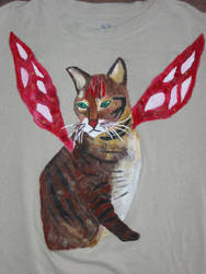 Faery Cat on a T-Shirt by thebardsdotnet