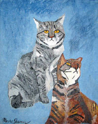 Tnt Tabby Cat Family Portrait by thebardsdotnet