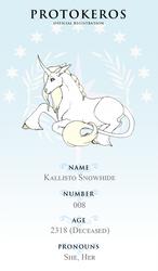 Protokeros 008 - Kallisto Snowhide (Registration) by AlchemillaVulgaris
