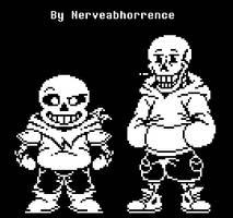 Underswap - Skelebros by Nerveabhorrence