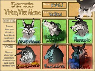 Virture Vice Meme On Domain Of The Wolf Deviantart