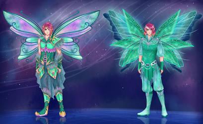Robin Kirinix (a.k.a Bloomix) and Mythix by Liliadria
