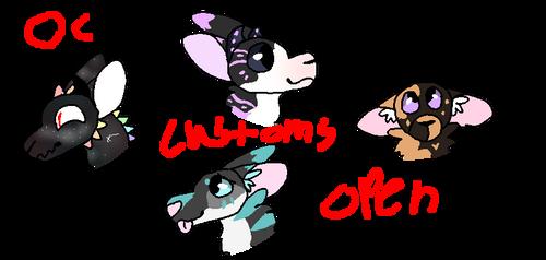 OC Customs -OPEN- by OtterstepOfMoonclan