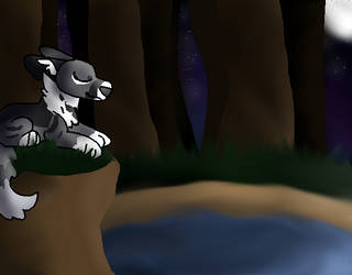 Eagle the wolf by OtterstepOfMoonclan