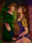 Link and Zelda by Soraya-Mendez