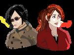 Pixelart: Ada And Claire by Soraya-Mendez
