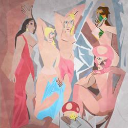 Les Demoiselles d'Royaume Champignon by TheCuraga