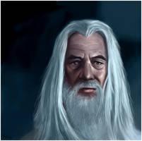 Portrait of Gandalf the White by ReneAigner