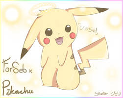 .::GIFT::. Pikachu by Shellahx