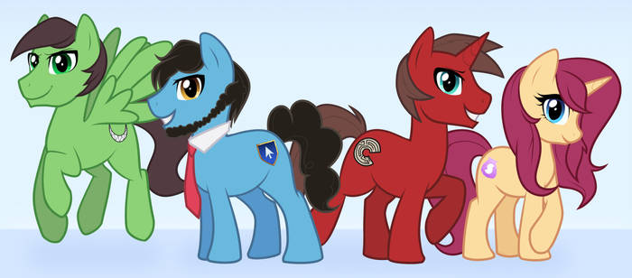 VideoGameNerdTeam Ponified! by Shellahx