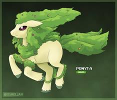 Alola Form - Ponyta by Shellahx