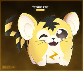 Tigrette - Pokemon Gold (Demo) Pokemon by Shellahx
