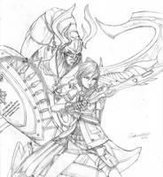 Lightning and Odin by gidland