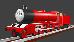 Raven the Red Engine (with a 3D face) by Sirfowler1