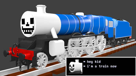 Sans the train by Sirfowler1