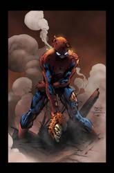 SpiderMan - David Finch / Tim Townsend / Jack Lavy by JackLavy