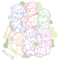 Osomatsu Keychain Design by minteaparty