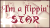 I'm A Flippin' STAR Stamp by RiskyPaper