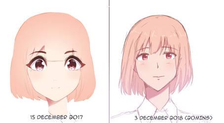 1 year Redraw by kyoshuko20