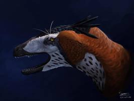 Dakotaraptor Portrait by BrennanStokkermans