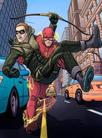 The Flash and Arrow by rahl4810