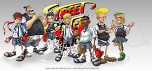 Street fighter Kids by artnerdx