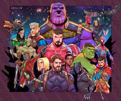 Avengers:Infinity War by artnerdx