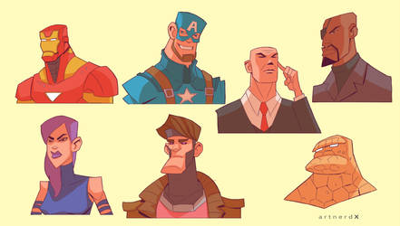 Marvel people by artnerdx