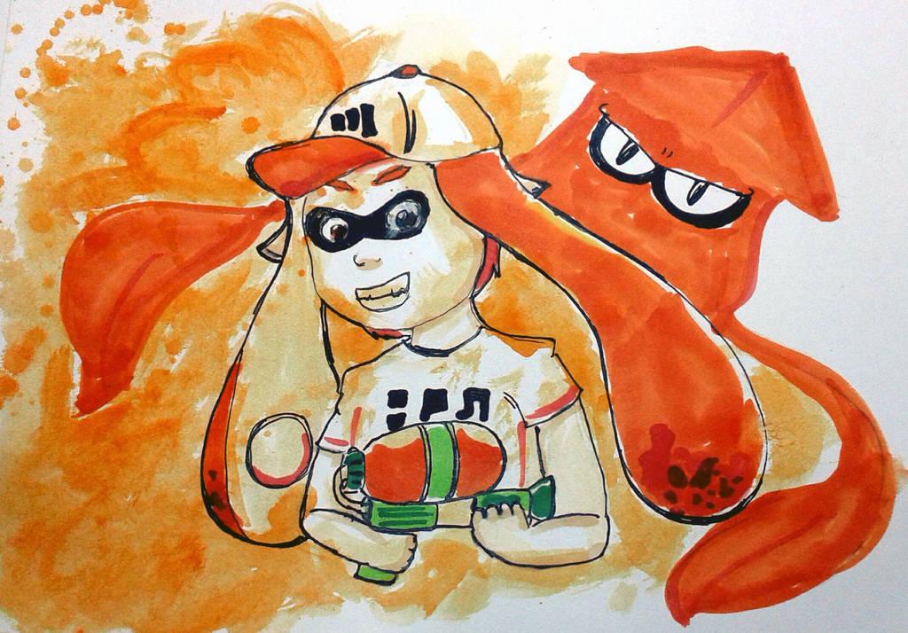 [orange] Splatoon by maricookie