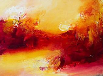 New Abstract  by HeatherHowellArt